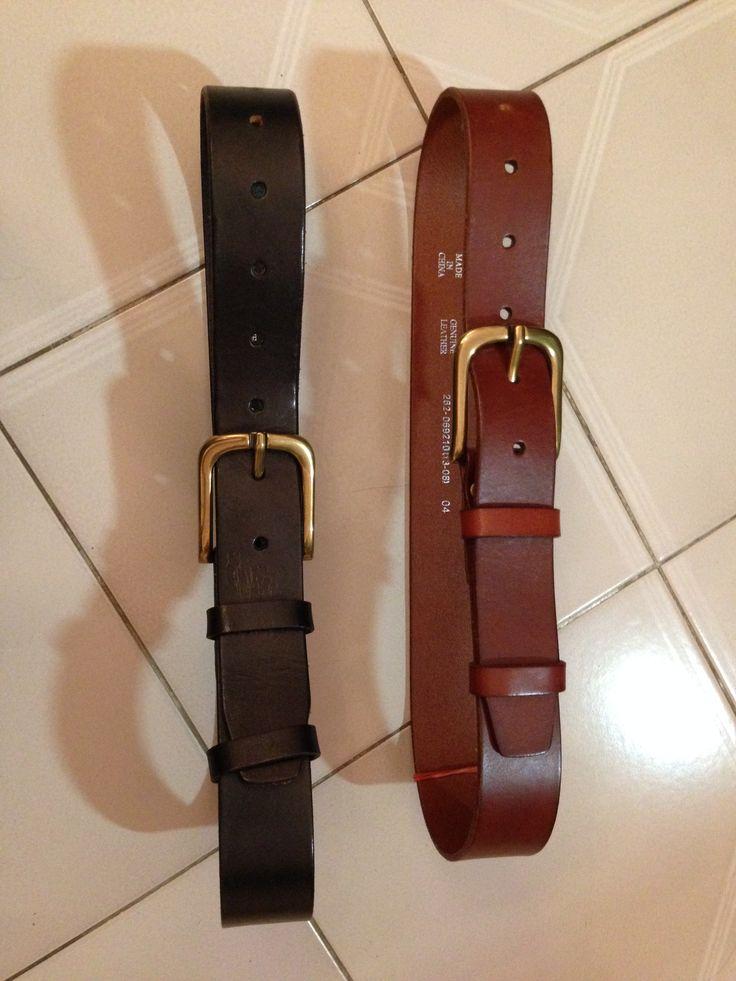 Leather belts - brown & black