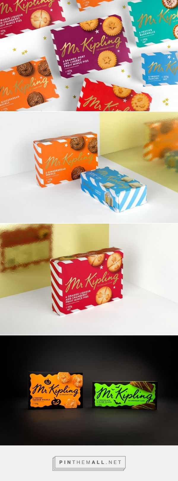 Mr Kipling Australia New Seasonal Range on Packaging of the World - Creative Package Design Gallery - created via https://pinthemall.net