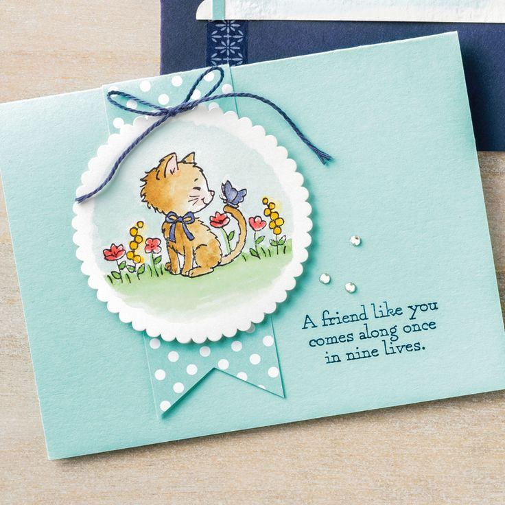 Pretty Kitty Wood-Mount Stamp Set