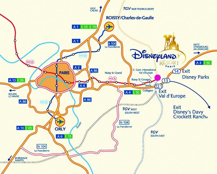 How to reach Disneyland Paris