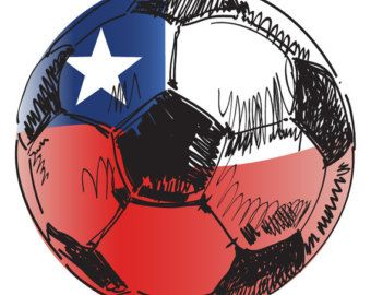 Chile Flag Soccer Ball Sticker