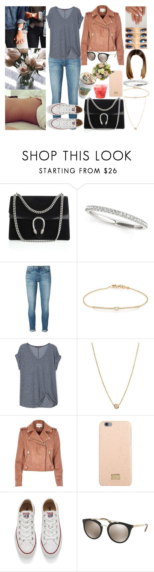 """#OC🏡"" by ally-xcv ❤ liked on Polyvore featuring Gucci, Current/Elliott, Tate, Violeta by Mango, ZoÃ« Chicco, River Island, Dolce&Gabbana, Converse and Prada"