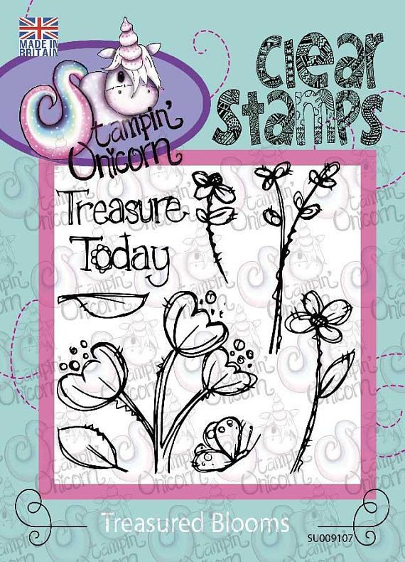 Treasured Blooms - Clear Stamp set by the Stampin Unicorn. Beautiful Quality Clear Stamps.