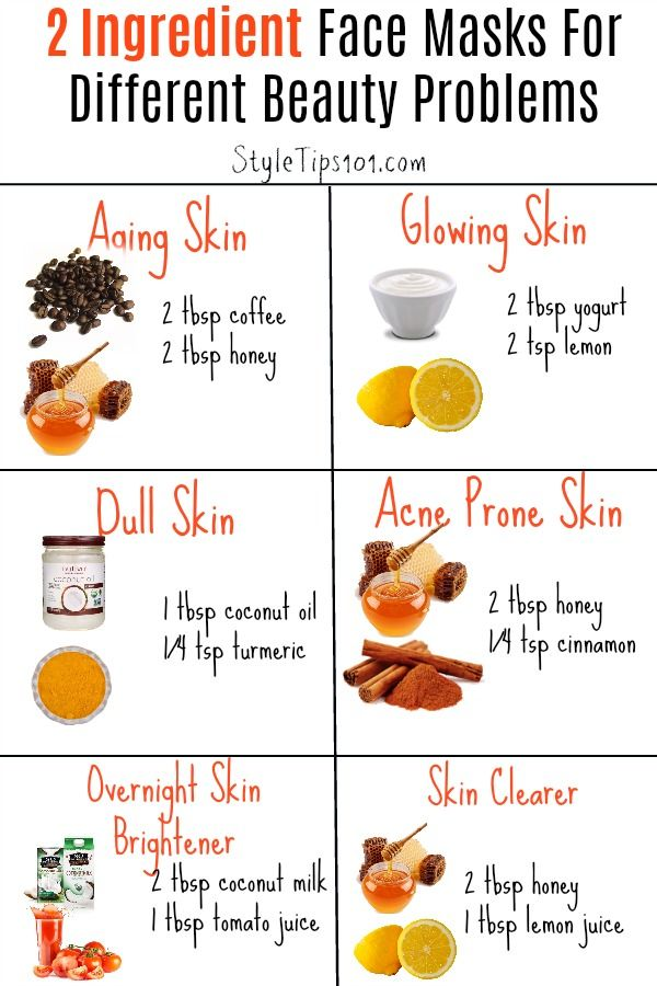 6 Two Ingredient Face Masks For Different Beauty Problems