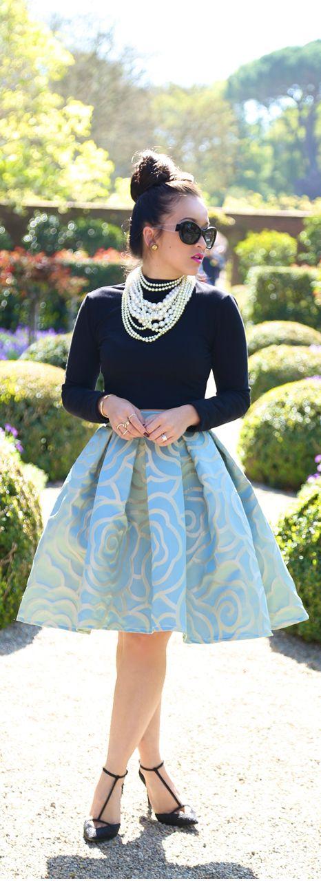 Stunning Pearls and a #highbun. Get the look from #CharmingCharlie http://www.peninsulatowncenter.com/Tenants/CharmingCharlie.aspx