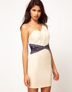 wellllll heeellloooo this is niceeee: Classy Little Dresses, Lace Embellishments, Asos, Goddesses Dresses, One Shoulder Dresses, Cream Dresses, Mistress Lace, Dresses 53, Wedding Guest Dresses
