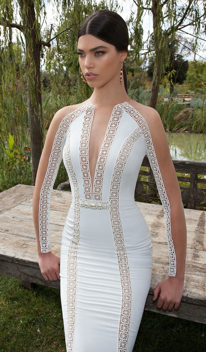 Berta 2015 Bridal Collection...OMG, Love these details. What a way to make a statement. Get that designer look without the designer $$$, have it custom-made. Ask your seamstress for fabric suggestions that fit your budget. Work with your seamstress to achieve this look.