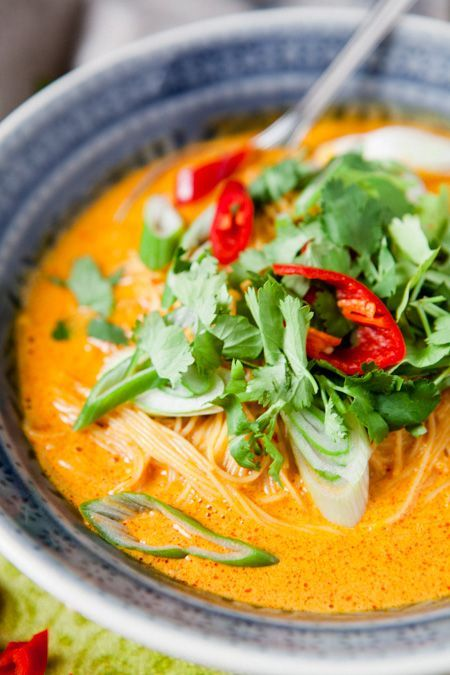 Nudelsuppe Thai Curry-Style - www.kuechenchaotin.de