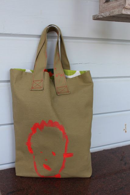 Shopping bag by a toddler
