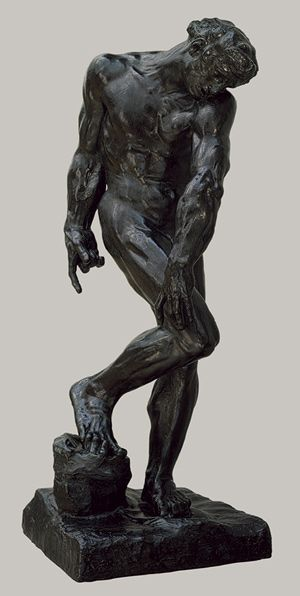 Auguste Rodin (French, 1840–1917). Bronze. Adam, modeled in 1880; this bronze case in 1910.