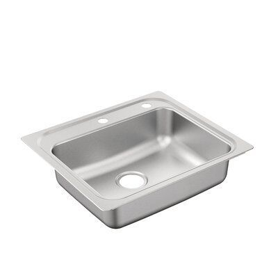 Moen 2000 Series 25 X 22 Drop In Kitchen Sink Faucet