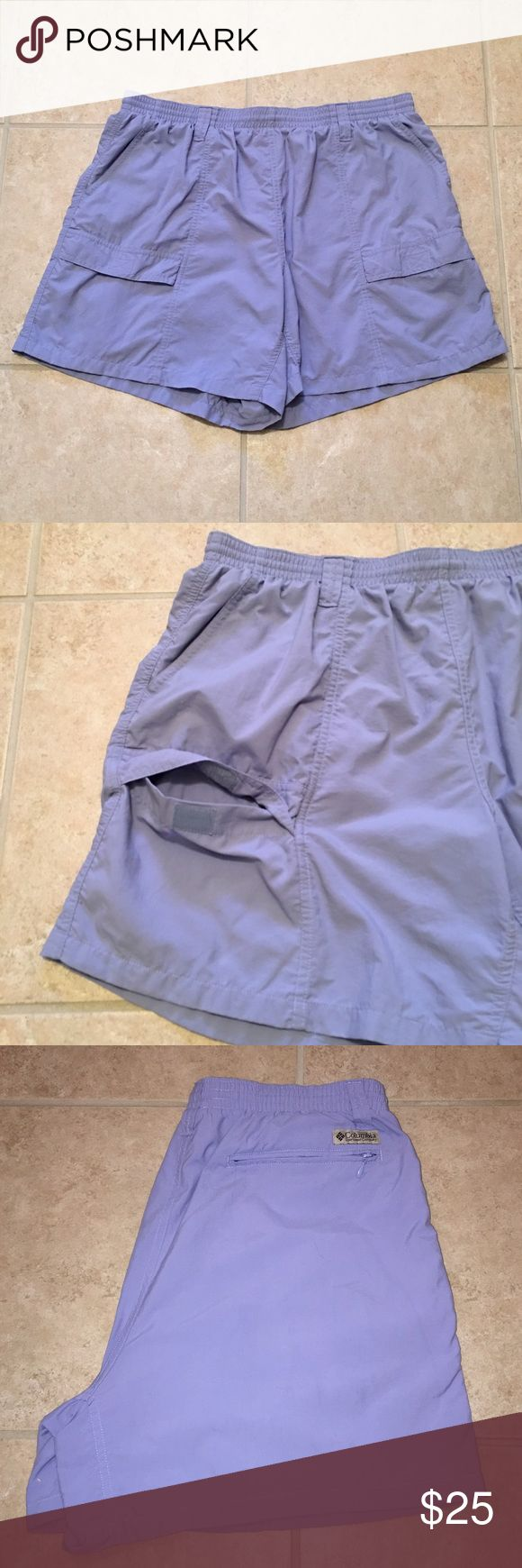 """🆕 💙BEAUTIFUL BLUE CARGO SHORTS💙. 💰LOWEST $💰 💙Beautiful, comfortable women's sports shorts! 💙NWOT  💙Adjustable waistband  💙Features the following: ☀️Two side pockets. ☀️Two front Velcro pockets. ☀️One posterior zippered pocket. ☀️Measurements are: * Length = 17"""" * Inseam = 5"""" 🔶ONLY reasonable offers will be considered🔶 ➡️USE THE REASONABLE OFFER CHART⬅️ ✳️Bundle option✳️ 🚫No low ball offers🚫 🚫No trades🚫 Columbia Shorts Cargos"""