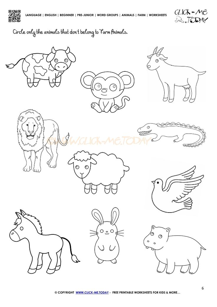 Image Result For Farm Animal Worksheet