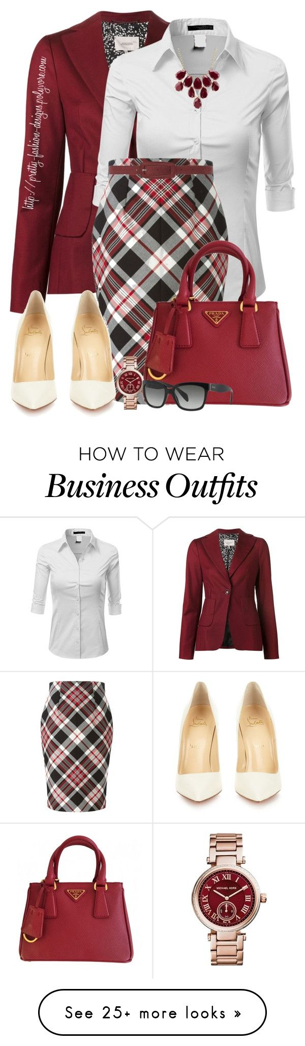 """~ Work Wear ~"" by pretty-fashion-designs on Polyvore featuring Dorothee Schumacher, Doublju, Alexander McQueen, Dorothy Perkins, Charlotte Russe, Christian Louboutin, Prada, Michael Kors, women's clothing and women"