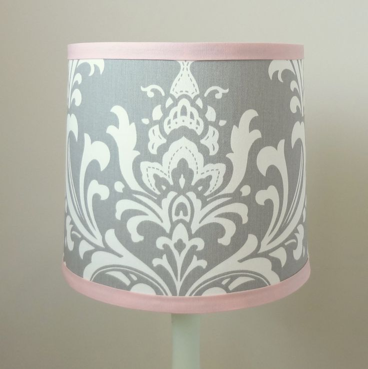 Small Pink and Gray Nursery Lamp shade. Other by babymilanbedding, $38.00