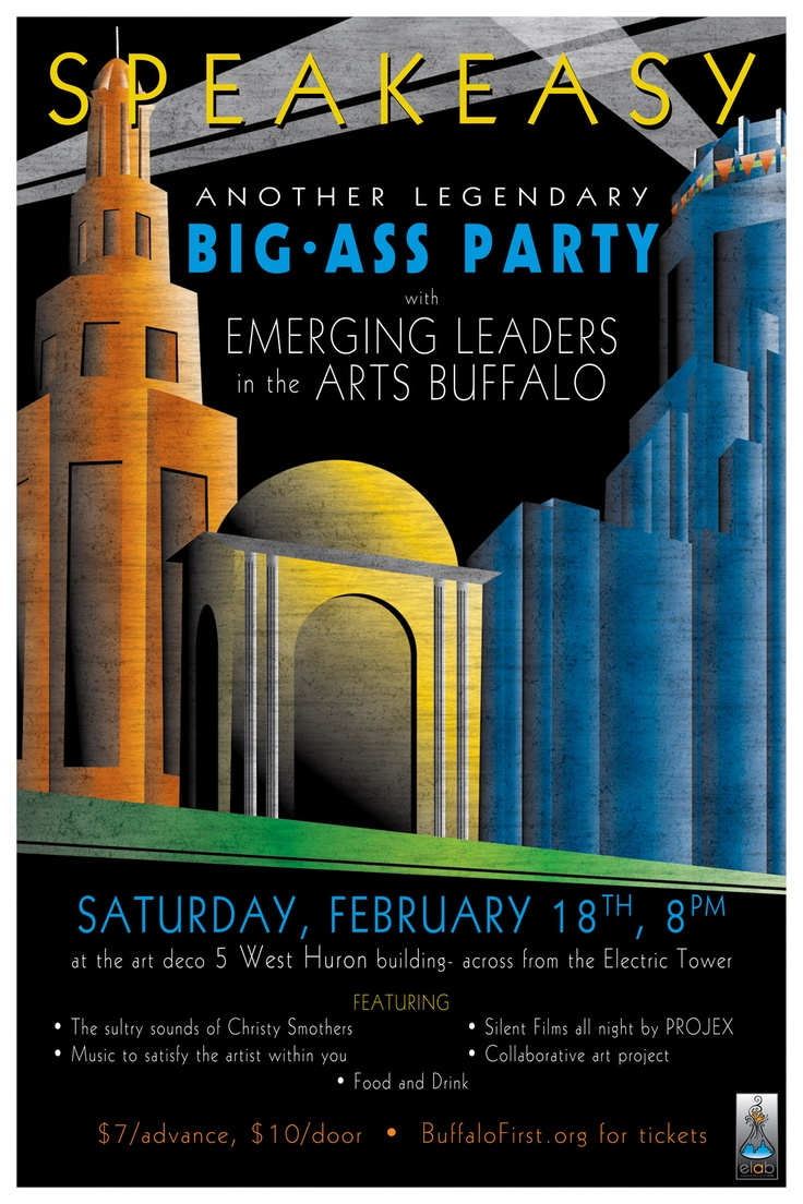 Poster design 1920s - 1920s Speakeasy Party