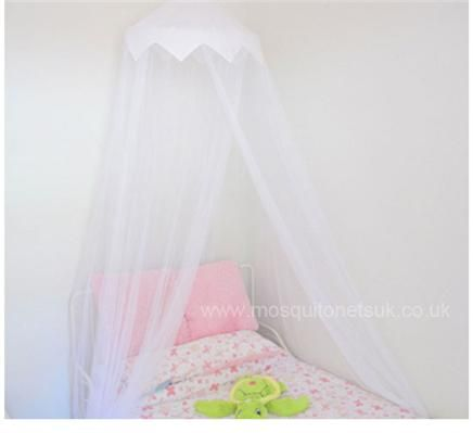 White Cotton Crown Top Mosquito Net