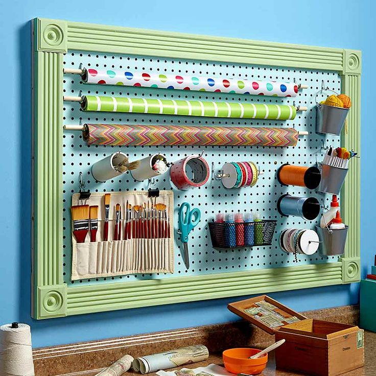 400 best images about diy organizers on pinterest for Diy pegboard craft organizer