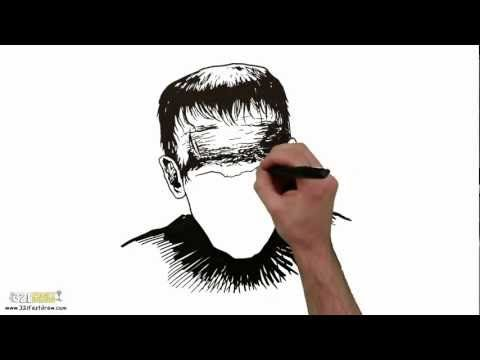 "Download ""Frankenstein"" HD Screensaver - 321 FastDraw - YouTube #whiteboard #frankenstein #horrorfilms #classic #hand #drawing #sketching"