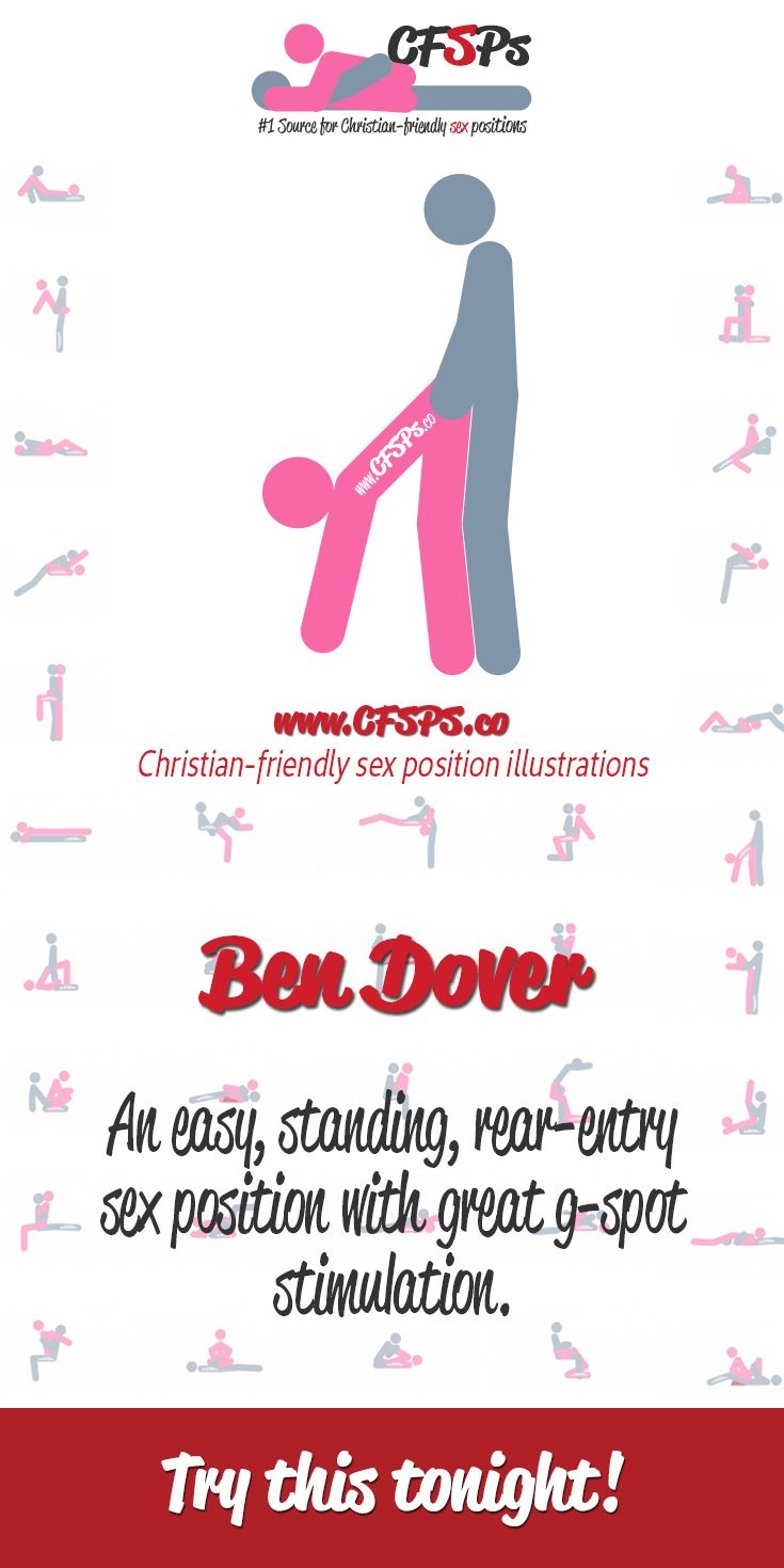 #TryThisTonight Ben Dover is an easy, standing, rear-entry sex position with great g-spot stimulation.
