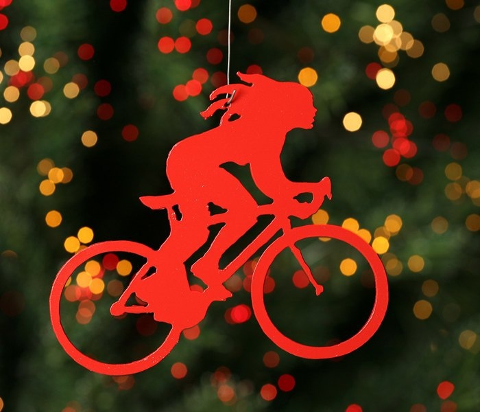 bike ornament httpwwwbiketalkercom - Bicycle Christmas Ornament
