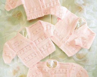 modèle de tricot PDF pour bébés filles enveloppement par ECBcrafts