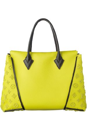 Louis Vuitton W PM Yellow Calfskin Leather Trim with LV signature enbossed into leather