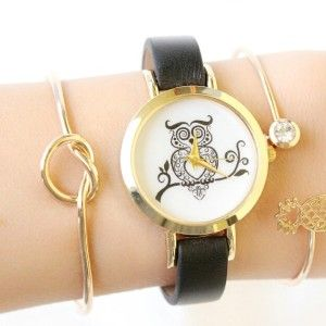 OWL LEATHER WATCH
