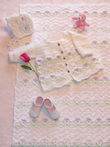 Ravelry: Tulip Garden Layette pattern by Cherie Marie Leck