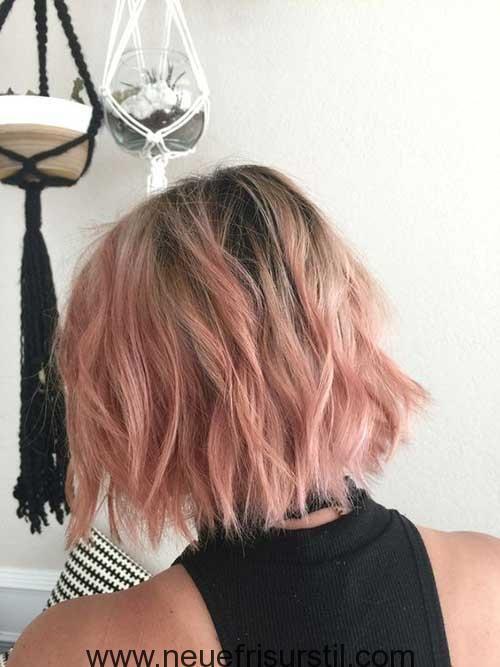 Rosa Ombre Kurze Haare Bobs In 2019 Haarfarben Rosa Blonde
