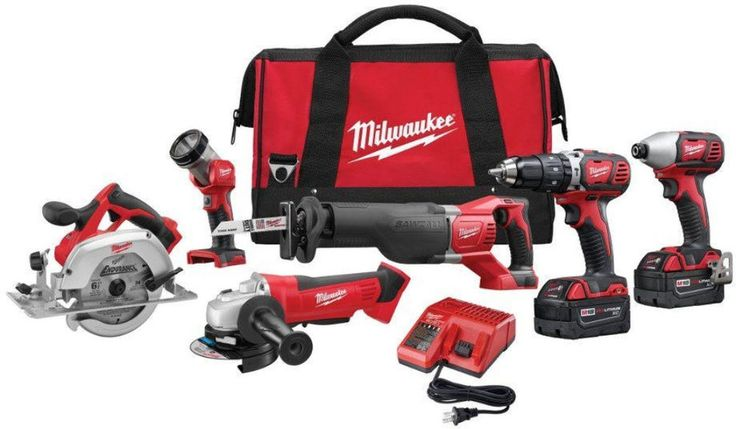 Milwaukee M18 18-Volt Lithium-Ion Cordless Combo Power Kit Set (6-Tool) New #Milwaukee #ToolSet #Tool #Set