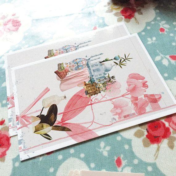 3 Cartes postales, l'Orchidée, lot de 3 cartes avec enveloppes.
