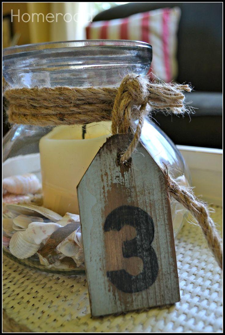 Wood tag idea for Nautical craft ideas