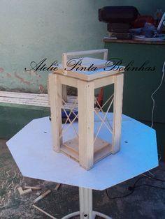 Ateliê Pinta Bolinhas: PAP Lanterna Marroquina de madeira