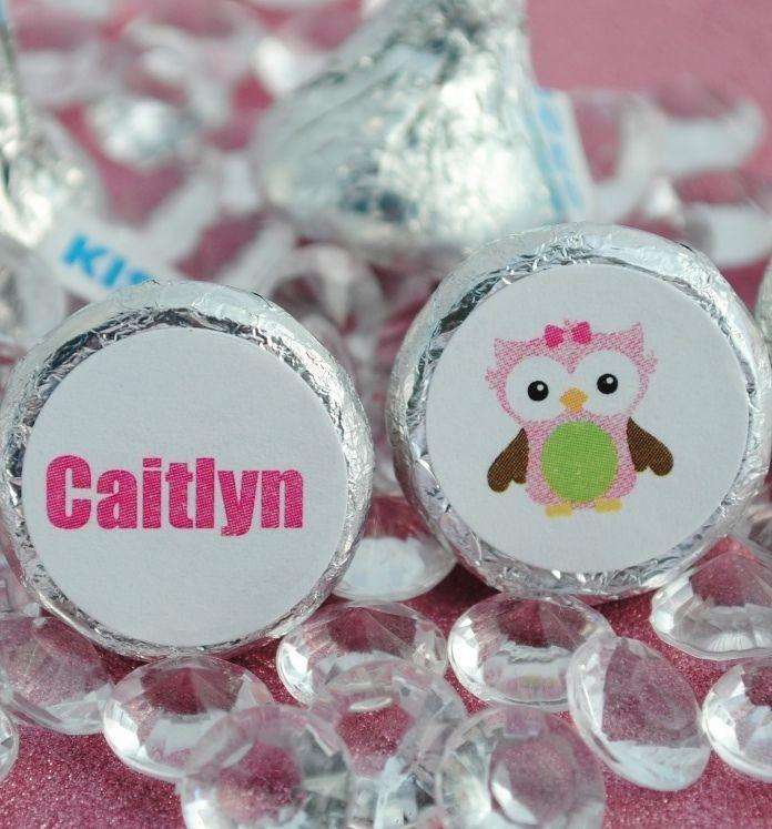 108 Birthday Owl Chevron Hershey Kiss Labels Stickers Favors #Unbranded #BirthdayChild