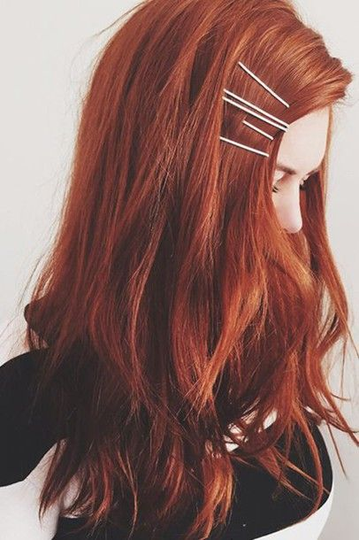 Hair accessory: red hair long hair hair clip hair dye
