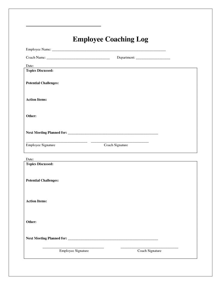 Coaching Log Template  Google Search  Coaching