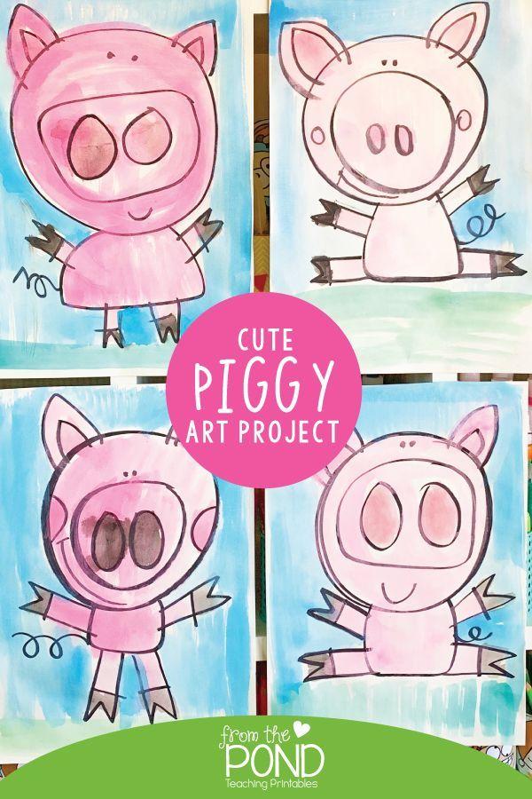 Cute Piggy Art Project – #Art #cute #Piggy #Project #teaching