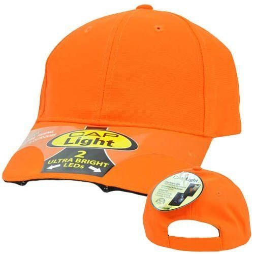 Neon Orange Bright LED Lights Hands Free Night Hunting Fishing Outdoors Hat Cap by Cap. Save 40 Off!. $14.99. Brand New Item with Tags. Official Licensed Product. Adjustable. 100% Polyester. Velcro. You will never need a flashlight while you are working in the dark again!! Introducing the hands-free light cap! Features 2 ultra bright LED, high intensity lights on the front of the bill. More lighting power than an average flashlight! Provides ample lighting for ANY outdoor or indo...
