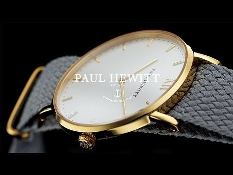 Uhr Sailor Line White Sand Silber Metallband Gold - PAUL HEWITT
