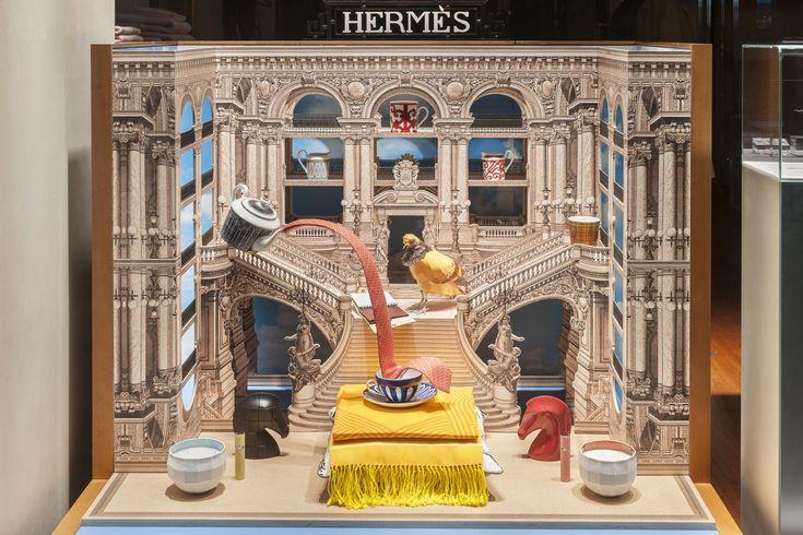 HERMÈS - FLANEUR FOREVER LONDON SHOP WINDOWS DESIGNED BY PETRA STORRS
