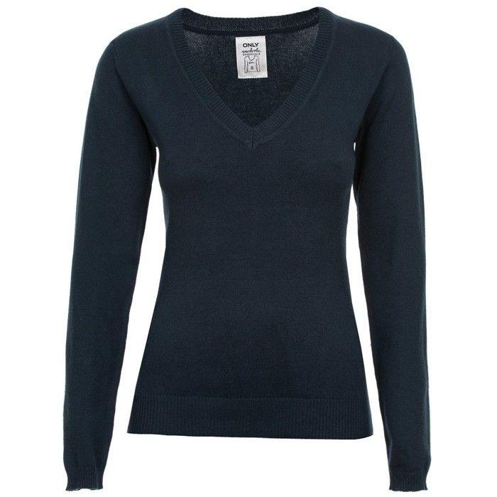 Only dames trui voorzien van V- hals. Gemaakt van 80% katoen en 20% nylon. http://www.lookinggoodtoday.com/dames-kleding/truien-vesten-dames