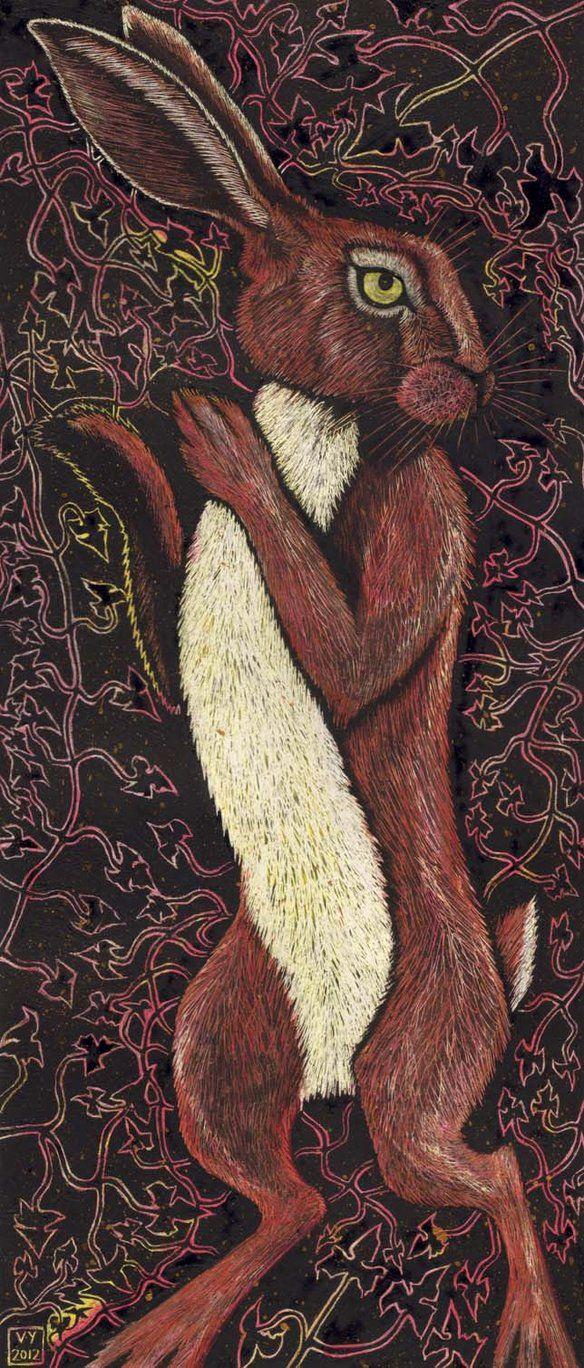 Gold Speckled Hare by ~Vikkki on deviantART