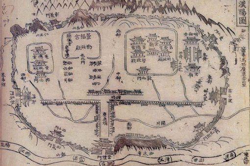 서울의 4대문 안은 명당 기운과 함께 권력의 기운도 강하다. 그림은 '한양도'.