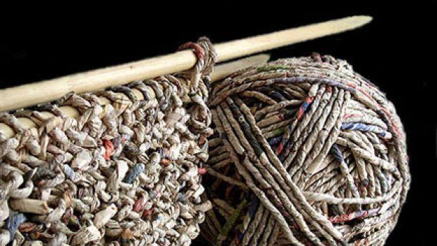 Larte crochet con carta riciclata di Ivano Vitali