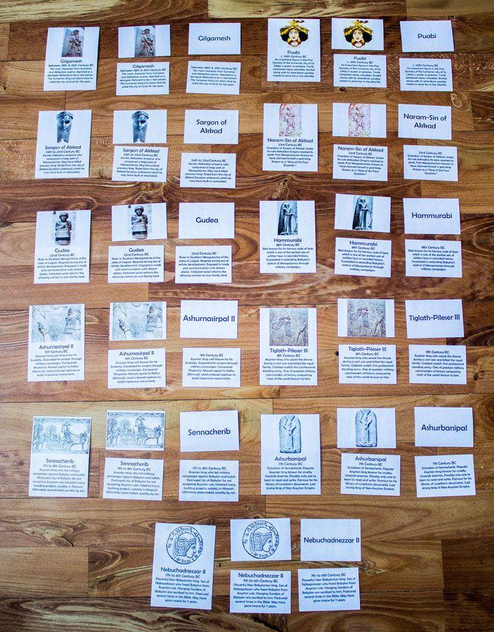 Ancient Mesopotamian Cards Full Set