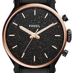Fossil Original Boyfriend Sport Three-Hand Black Leather Watch