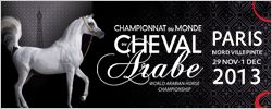 Vendredi 29 novembre 2013 et Samedi 30 Novembre 2013 : Championnat du Monde Du Cheval Arabe. Will you be there ?