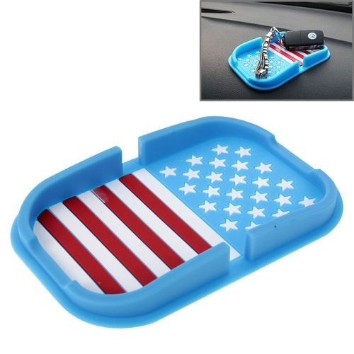 Multi-function Rubber Car Anti-slip Mat with Phone Holder(Blue)