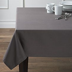"""View larger image of Fete 60""""x90"""" Pewter Grey Tablecloth"""